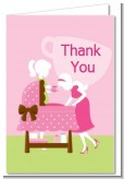 Sip and See It's a Girl - Baby Shower Thank You Cards