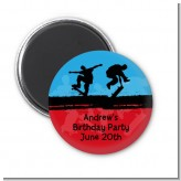 Skateboard - Personalized Birthday Party Magnet Favors