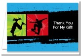 Skateboard - Birthday Party Thank You Cards