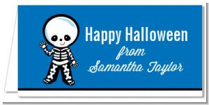 Skeleton - Personalized Halloween Place Cards