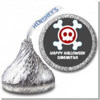 Skull - Hershey Kiss Halloween Sticker Labels