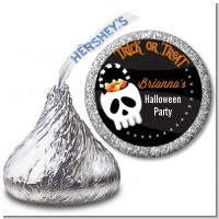 Skull Treat Bag - Hershey Kiss Halloween Sticker Labels