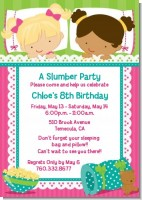 Slumber Party with Friends - Birthday Party Invitations