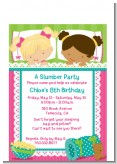 Slumber Party with Friends - Birthday Party Petite Invitations