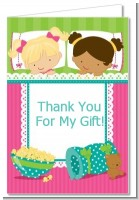 Slumber Party with Friends - Birthday Party Thank You Cards