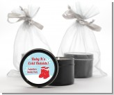 Snow Boots - Christmas Black Candle Tin Favors