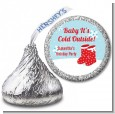 Snow Boots - Hershey Kiss Christmas Sticker Labels thumbnail