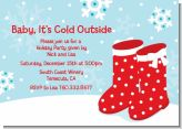 Snow Boots - Christmas Invitations
