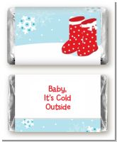 Snow Boots - Personalized Christmas Mini Candy Bar Wrappers
