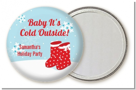 Snow Boots - Personalized Christmas Pocket Mirror Favors