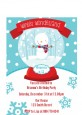 Snow Globe Winter Wonderland - Birthday Party Petite Invitations thumbnail