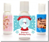 Snow Globe Winter Wonderland - Personalized Birthday Party Lotion Favors