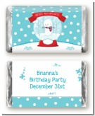 Snow Globe Winter Wonderland - Personalized Birthday Party Mini Candy Bar Wrappers