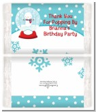 Snow Globe Winter Wonderland - Personalized Popcorn Wrapper Birthday Party Favors