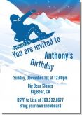 Snowboard - Birthday Party Invitations