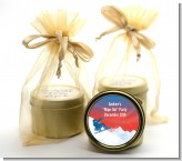 Snowboard - Birthday Party Gold Tin Candle Favors