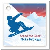 Snowboard - Personalized Birthday Party Card Stock Favor Tags