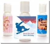 Snowboard - Personalized Birthday Party Lotion Favors