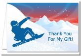 Snowboard - Birthday Party Thank You Cards