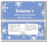 Snowflakes - Personalized Birthday Party Candy Bar Wrappers