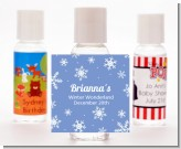 Snowflakes - Personalized Birthday Party Hand Sanitizers Favors