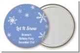 Snowflakes - Personalized Birthday Party Pocket Mirror Favors