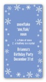Snowflakes - Custom Rectangle Birthday Party Sticker/Labels