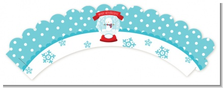 Snow Globe Winter Wonderland - Birthday Party Cupcake Wrappers