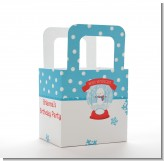 Snow Globe Winter Wonderland - Personalized Birthday Party Favor Boxes