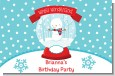Snow Globe Winter Wonderland - Personalized Birthday Party Placemats thumbnail