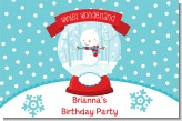 Snow Globe Winter Wonderland - Personalized Birthday Party Placemats