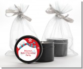Snowman Fun - Christmas Black Candle Tin Favors