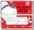 Snowman Fun - Personalized Christmas Candy Bar Wrappers thumbnail