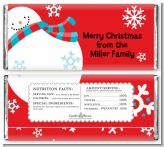 Snowman Fun - Personalized Christmas Candy Bar Wrappers