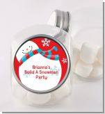 Snowman Fun - Personalized Christmas Candy Jar