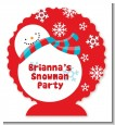 Snowman Fun - Personalized Christmas Centerpiece Stand thumbnail
