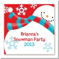Snowman Fun - Personalized Christmas Card Stock Favor Tags