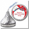 Snowman Fun - Hershey Kiss Christmas Sticker Labels thumbnail