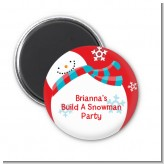 Snowman Fun - Personalized Christmas Magnet Favors