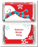 Snowman Fun - Personalized Christmas Mini Candy Bar Wrappers