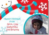 Snowman Fun - Personalized Photo Christmas Cards