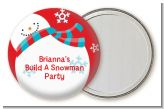 Snowman Fun - Personalized Christmas Pocket Mirror Favors