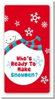 Snowman Fun - Custom Rectangle Christmas Sticker/Labels