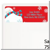 Snowman Fun - Christmas Return Address Labels