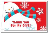 Snowman Fun - Christmas Thank You Cards