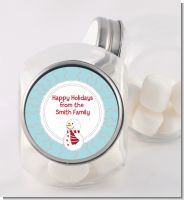 Snowman Snow Scene - Personalized Christmas Candy Jar