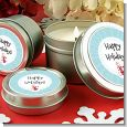 Snowman Snow Scene - Christmas Candle Favors thumbnail