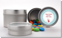 Snowman Snow Scene - Custom Christmas Favor Tins