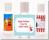 Snowman Snow Scene - Personalized Christmas Hand Sanitizers Favors