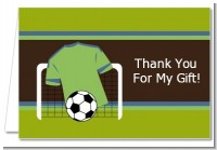 Soccer Jersey Green and Blue - Birthday Party Thank You Cards
